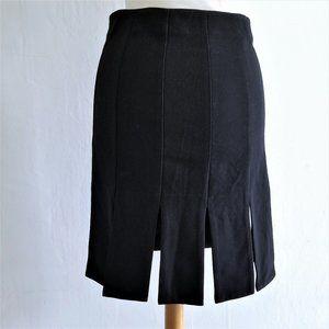 Knee Length Skirt With Unique Cut-out Hem Detail